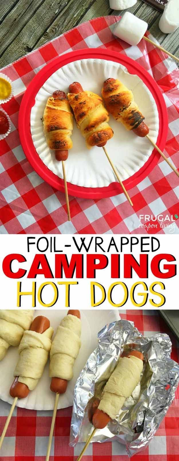 Camping Hot Dogs | Easy Foil Wrapped Camping Recipes For Outdoor Meals