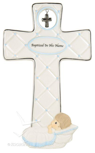 Buy Precious Moments Cross: Boy, Baptized In His Name Online - Precious Moments Cross: Boy, Baptized In His Name Homeware: ID 875555022988