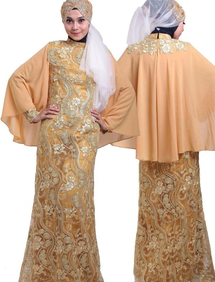 model gamis cantik gamis modern cape #Hijab #BusanaMuslim #Hijabi #HijabTutorial www.hafana.com