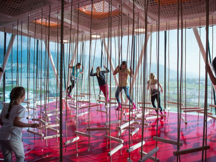The playtower and playground at Swarovski Kristallwelten (Swarovski Crystal Worlds), located in Tirol, Austria, were created by Snøhetta architecture.