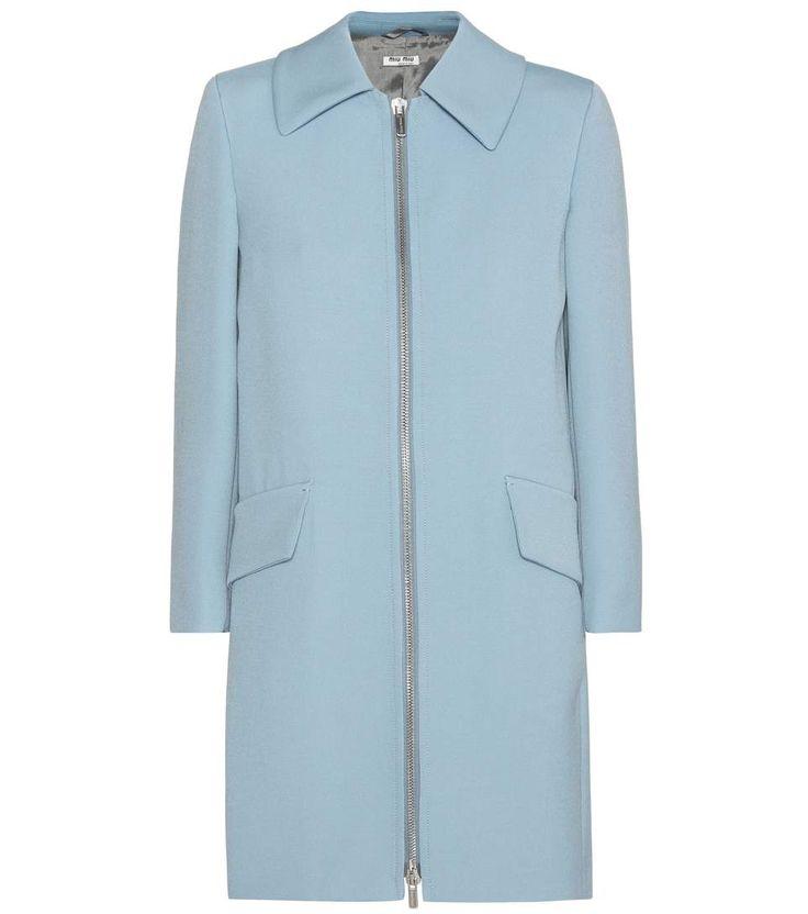 Blue wool-blend coat