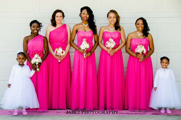 pink bridesmaid dresses everything wedding ideas pink bridesmaid ...