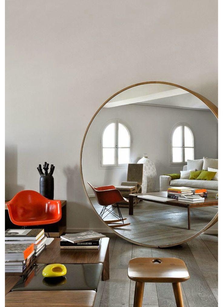 25 beste idee n over ronde spiegels op pinterest ingangs plank hal spiegel en kleine ingang - Zorgen voor een grote spiegel aan de wand ...