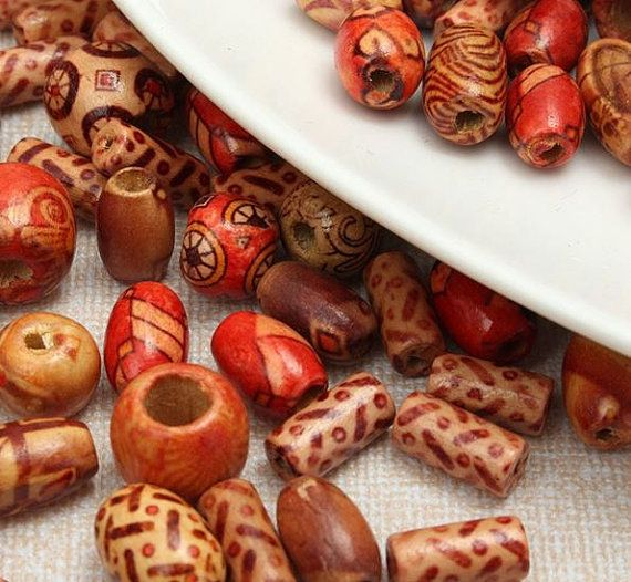 Wooden Beads Spacer Lot Natural Loose Wood Wooden by SuppliesDiy