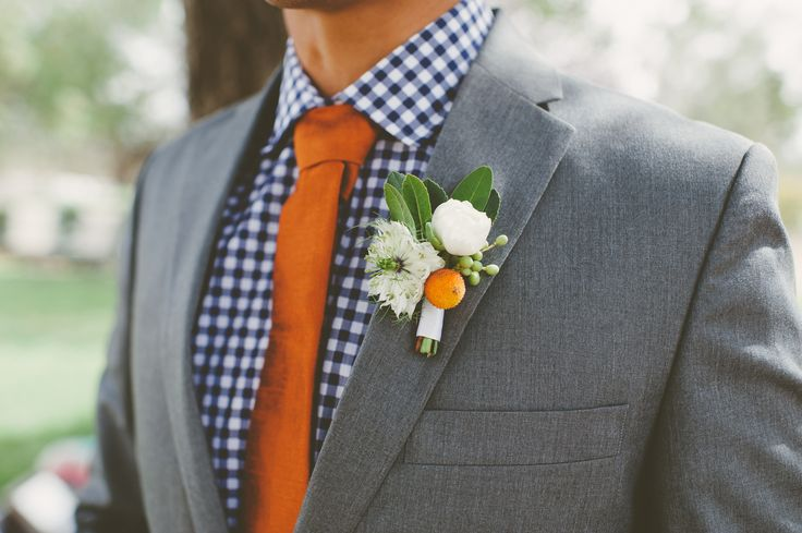 Bold boutonniere together + olive leaves   Photography: Eden Day Photography - www.edendayphotography.com  Read More: http://www.stylemepretty.com/gallery/gallery/20183/