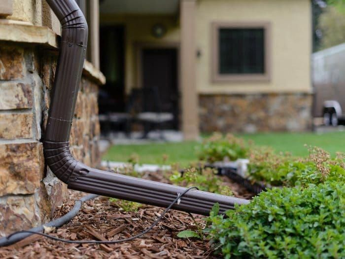 Good Looking Half Round Gutters Halfroundgutters Downspout Drainage Downspout House Gutters