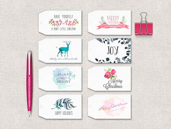 Christmas Tag Printable - INSTANT DOWNLOAD - Holiday Gift Tags, Christmas Labels