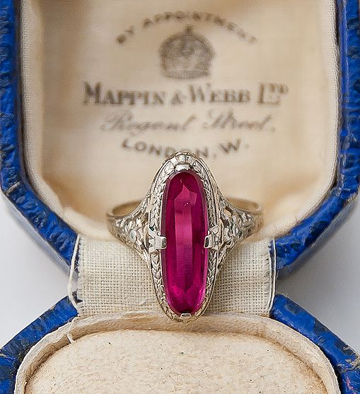 Vintage Art Deco Ruby ring - so sad this is already sold :(