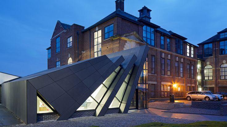 Ashton Sixth Form College reception. arch: GA studio. EQUITONE facade materials. equitone.com