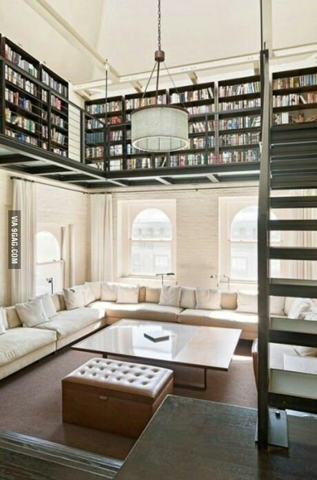 I don't like high ceilings, but this would be a great idea if I had them.