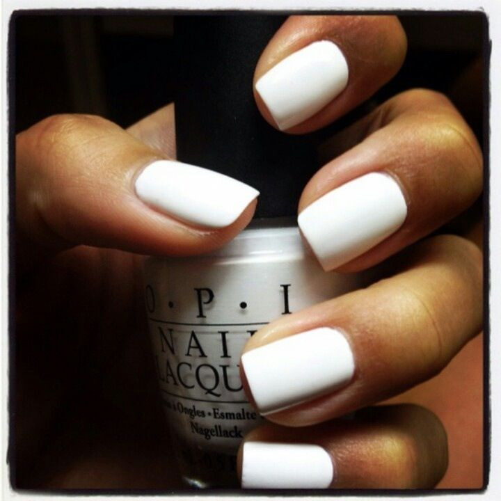 Love These Dinning White Nails White Nail Polish Nail Polish Colors