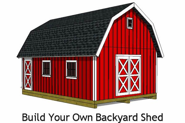 16x24 barn shed plans build your own backyard barn shed for Small monitor barn