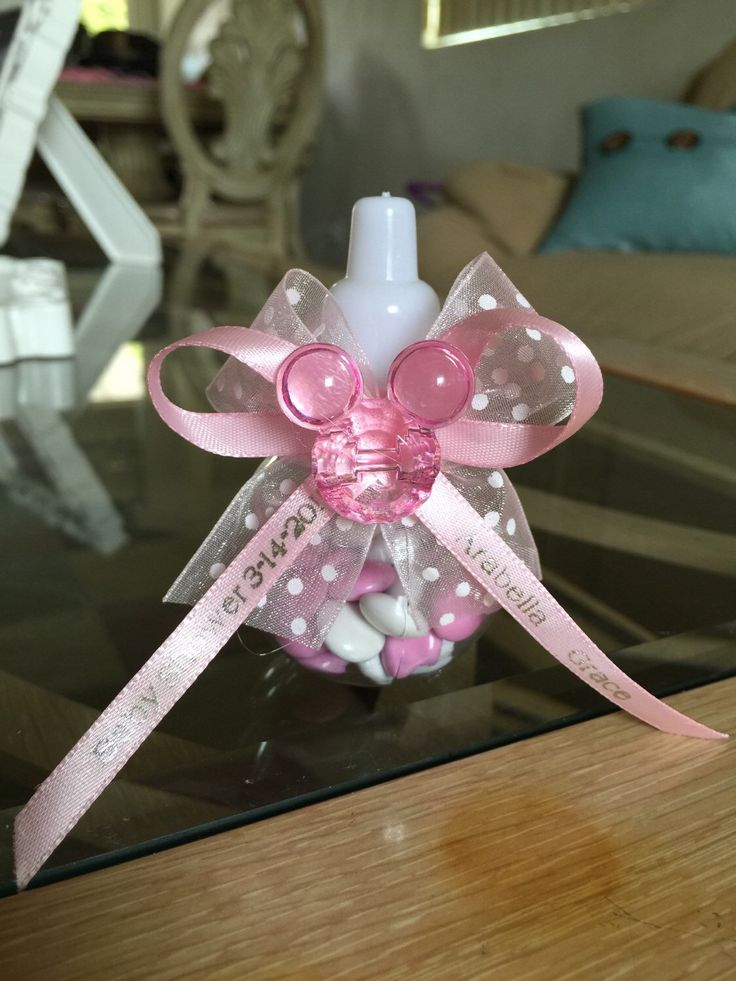 Minnie Pink Baby Shower Theme Party Favors. A Personal Favorite From My Etsy  Shop Https