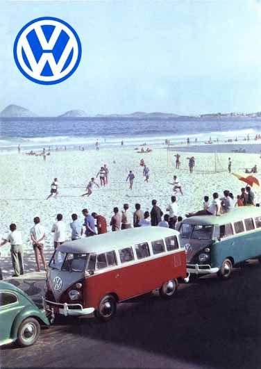 1104 - VOLKSWAGEN - Kombi - Futebol de Praia - 29x41-                                                                                                                                                                                 Mais