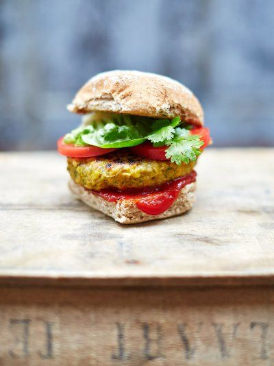 The best vegan burger really is the best as it's also suitable for vegetarians; find out how to make a tasty vegan and veggie burger with Jamie Oliver