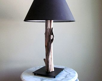 IN STOCK  Driftwood Table Lamp with Dark by DriftingConcepts