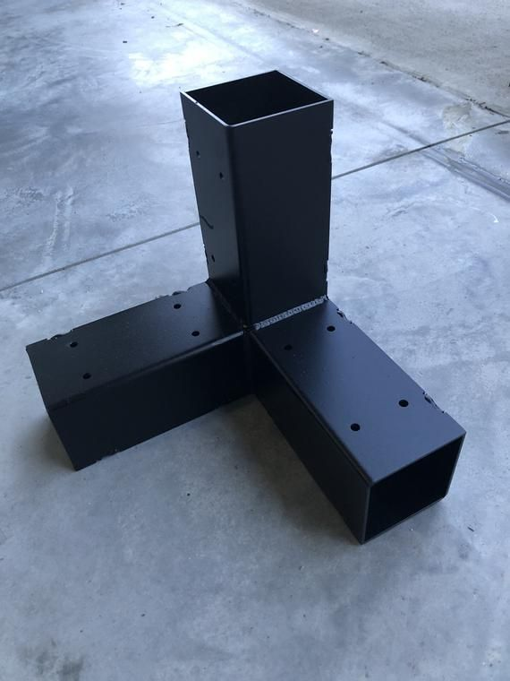 Heavy Duty Corner Bracket Made From 11ga Steel And Powder Coated With An Architectural Grade Textured Black These Were Made In 2020 Raised Bed Corners Pergola Corner