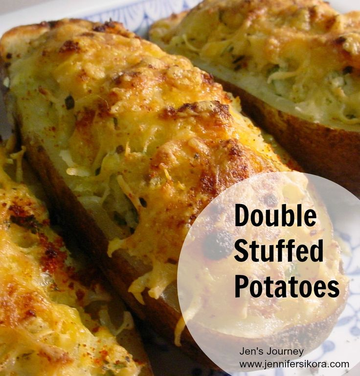Double Stuffed Potatoes-- I love these potatoes more than any other potato dish I make!