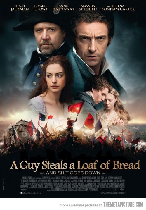 a summary and interpretation of les miserables Analysis of the play les miserables 521 words | 2 pages order before each performance begins i picked the play les miserables to talk about and discuss for the performing arts papers assignment.