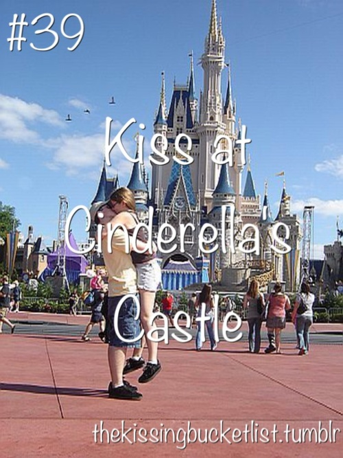Kiss at Cinderella Castle - Wedding photography bucket list #1. I would love to photograph an engagement session or wedding at Disney World or Disneyland!