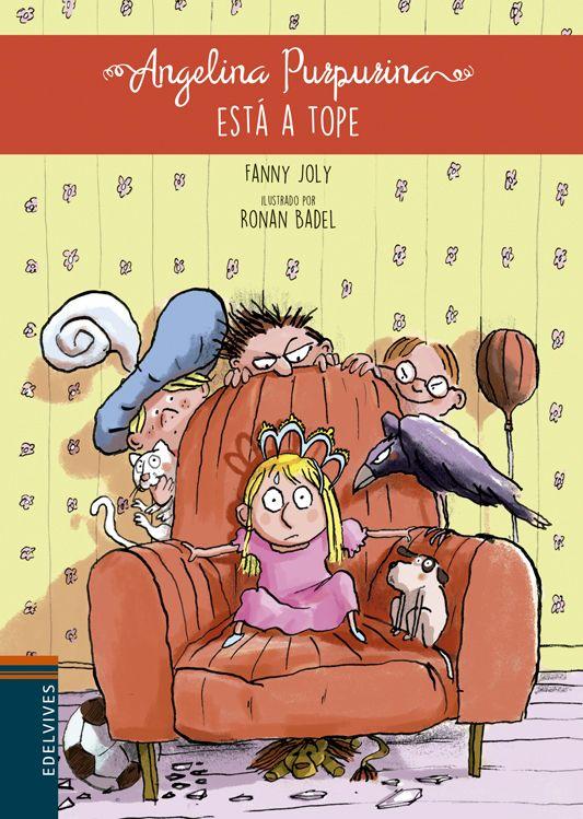 Angelina Purpurina quiere ser princesa en la función del colegio mientras que sus hermanos adoptan un perro callejero. Una historia de Fanny Joly ilustrada por Ronan Badel.