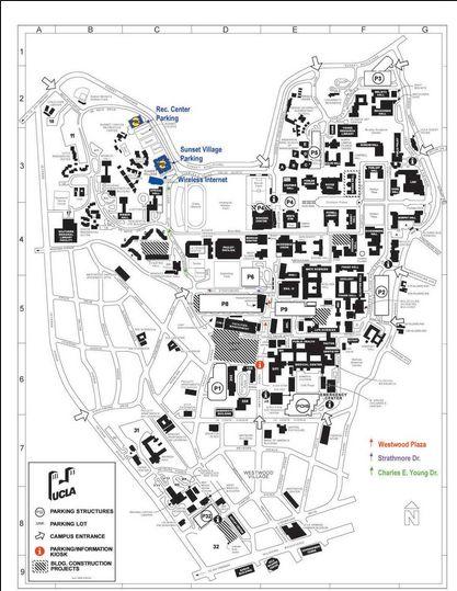 UCLA campus map.