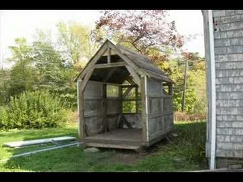 DIY Build A Shed From Recycled Materials. With Banjo Music U003c3