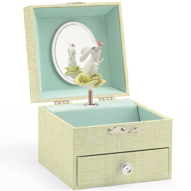 Boite à bijoux musicale Lapin choux : Djeco - Boite à bijoux musicale - Berceau Magique