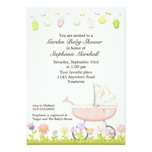 50 best Pink Girl – Garden Party Baby Shower Invitations
