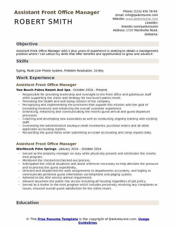 117 Reference Of Front Desk Office Manager Job Description Office Manager Job Description Manager Resume Job Resume Samples