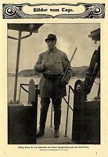 König Oskar II. von Schweden * Jagdausflug nach der Insel Hven Bilddokument 1901