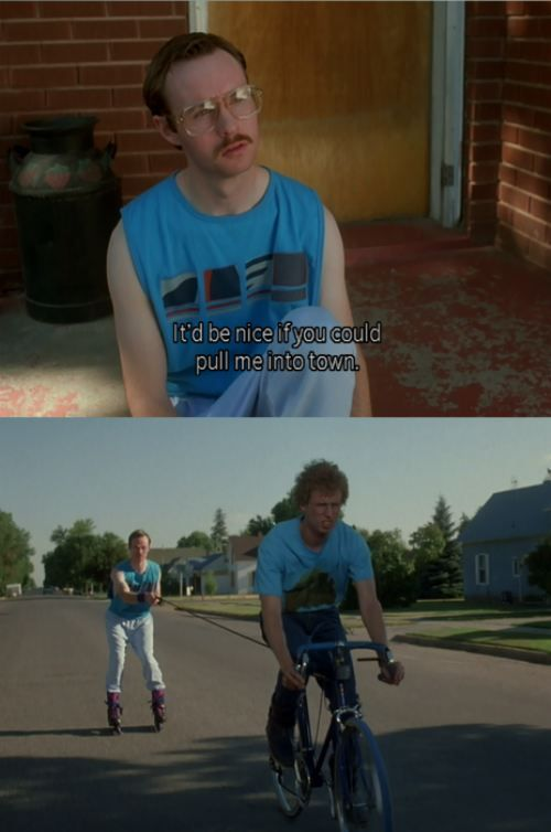 Napoleon Dynamite. Each scene deadpan hilarious.  Top five funniest movies ever.