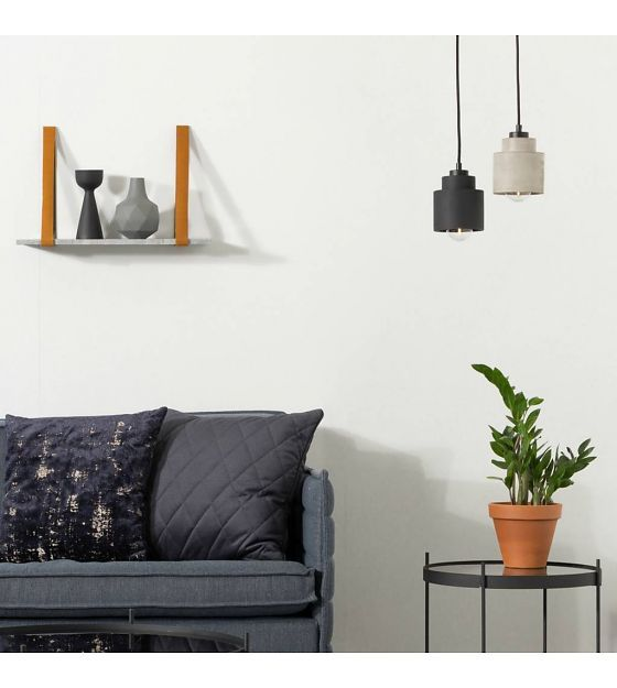 Zuiver Hanglamp Left black, steen zwart 150x11x11cm - wonenmetlef.nl