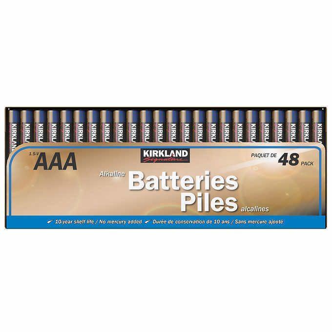 Kirkland Signature Aaa Alkaline Batteries 48 Pack 1 5v Kirkland Battery Alkaline Battery Kirklands Batteries