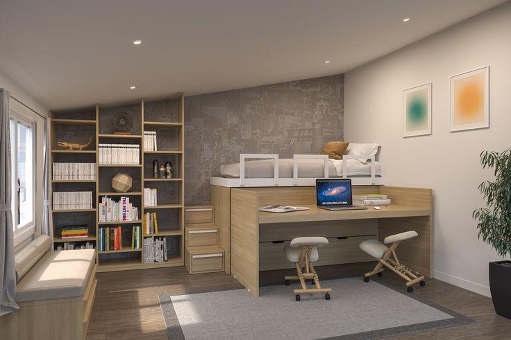 Gain de Place Cinius nel 2020 Arredamento, Camera da