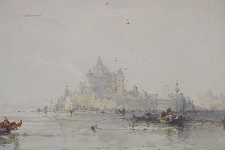 Frank Wasley 'Venetian Scene' - watercolour on paper