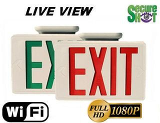 Secure Shot HD Live View Exit Sign Spy Camera/DVR