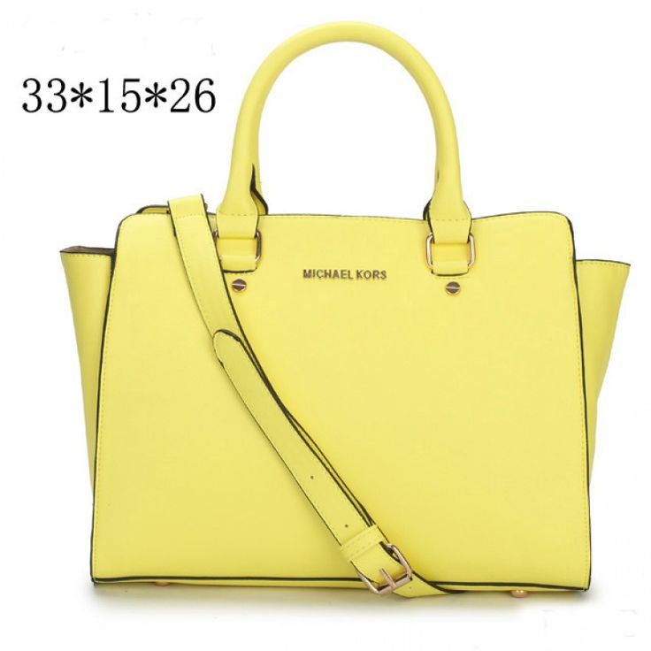 MICHAEL Michael Kors Large Selma Top-Zip Satchel in Yellow