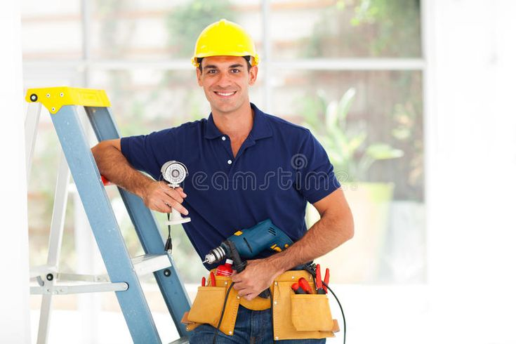 Cctv Guy Handsome Cctv Guy With Tools And Security Camera Aff Handsome Guy Cctv Cctv Camera In 2020 Security Camera Home Security Home Security Systems
