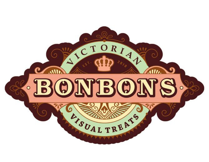 #houseofbranding | BonBons: Victorian Visual Treats Logo. Everything about this is super nice.