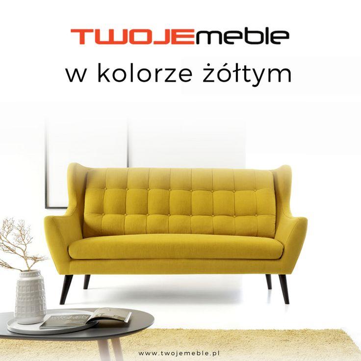 Twoje meble w kolorze żółtym czyli żółte aranżacje – na zdjęciu żółta sofa Henry, Etap Sofa #TwojeMeble #ŻółteAranżacje #Sofa #Henry #EtapSofa