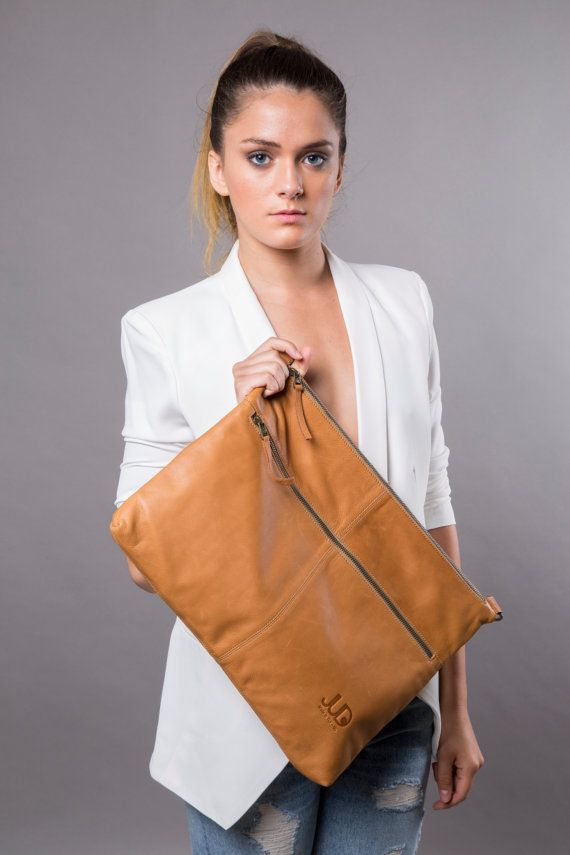 Camel brown leather bag  leather purse SALE FREE by JUDtlv on Etsy