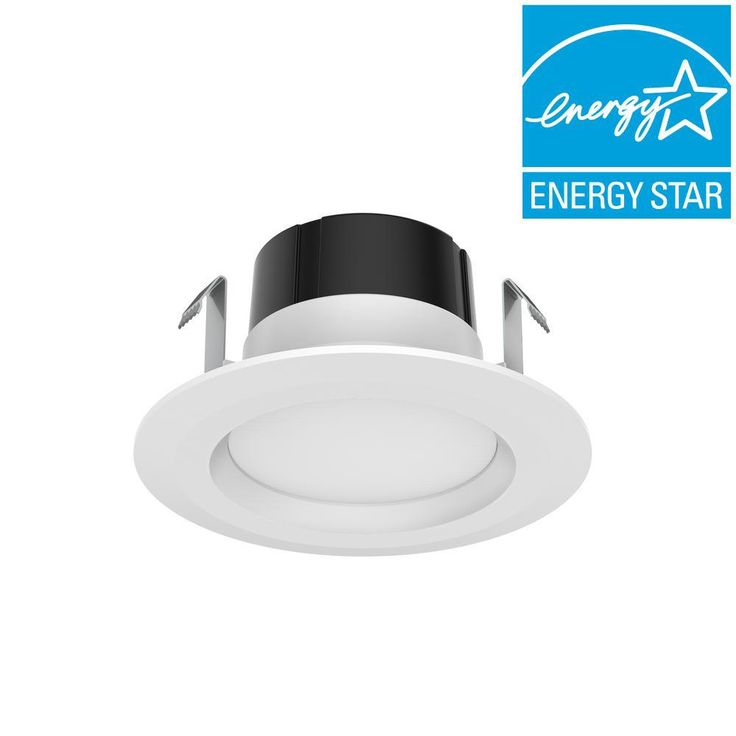 Commercial Electric 4 in. White Recessed LED Trim Soft White (4-Pack)