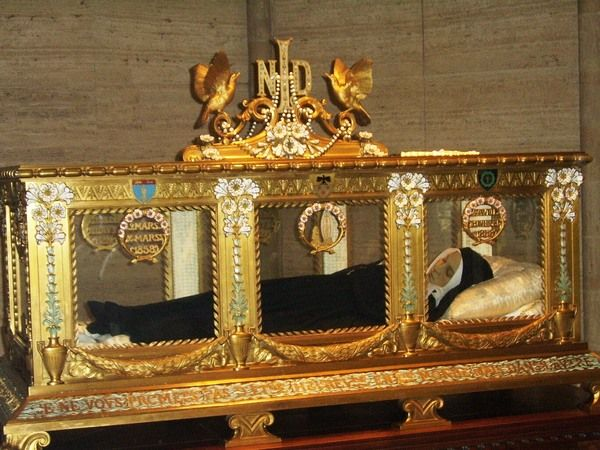 The undeniably beautiful 130-year-old body of Bernadette Soubirous is displayed in a purpose-built crystal coffin, housed in a chapel at the abbey where she served as a nun. Her uncannily lifelike visage, clad in nun's robes, is one of the most common examples of incorruptible saints whose bodies never decay. After her death, she was exhumed no less than three times and found to be intact at each, which makes it strange that the face and hands that are so famous are actually made of wax.