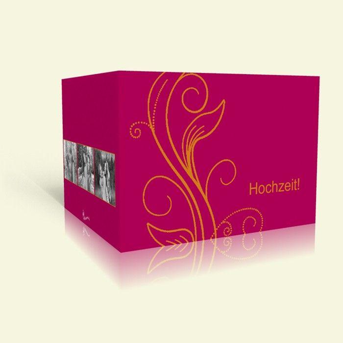 Einladungskarte zur Hochzeit Purple