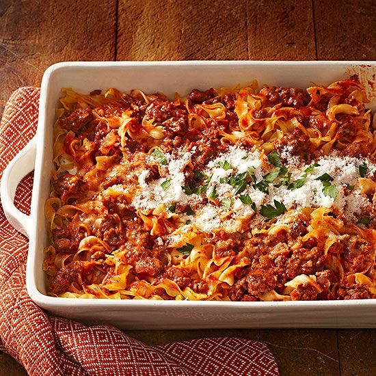 Try these delicious baked pasta recipes from better homes gardens casseroles we crave for Better homes and gardens mac and cheese