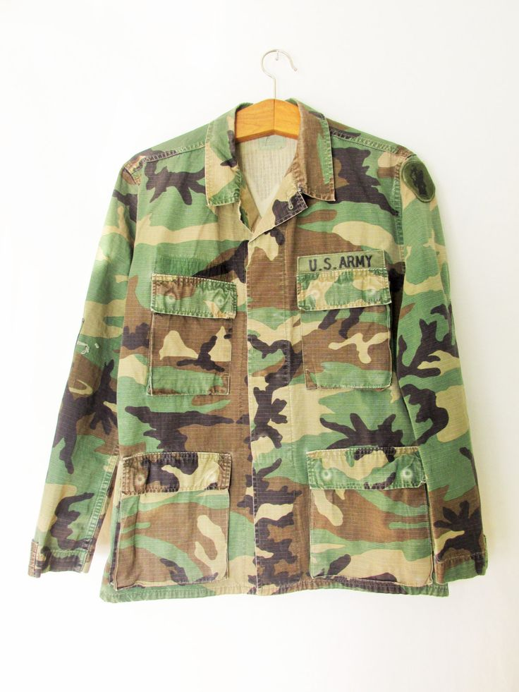Vintage Camouflage US Army Jacket by FreshtoDeathVintage on Etsy