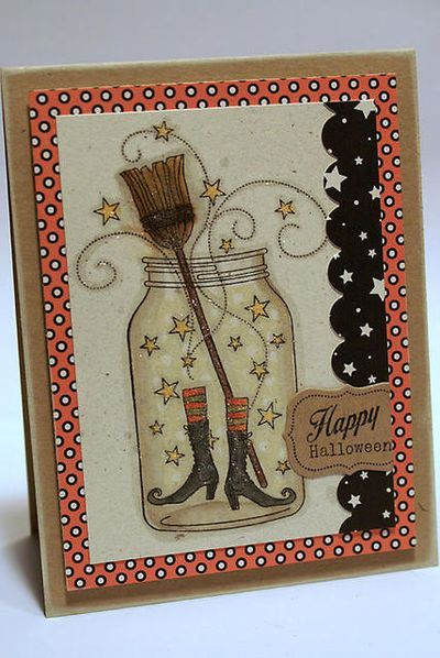 Love this card...Papertrey Ink stamps: Friendship Jar and Friendship Jar fall Fillers