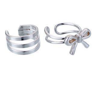 Buy Sterling Silver Bow and 3 Row Bar Ear Cuffs - Set of 2 at Argos.co.uk - Your Online Shop for Ladies' earrings.