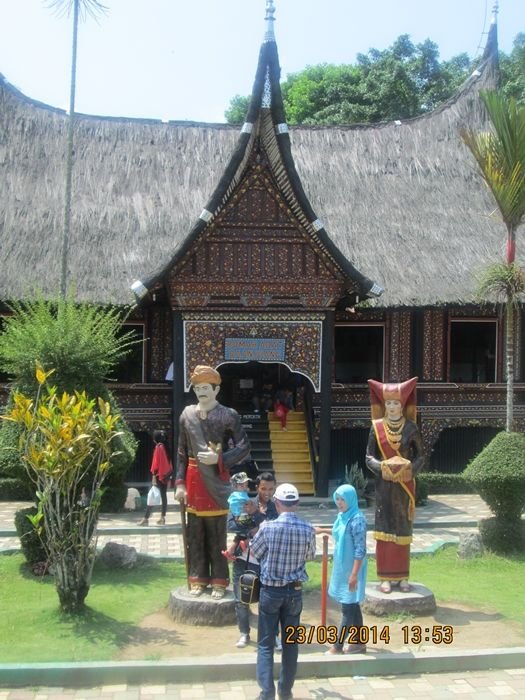 traditional house of west sumatera, indonesia